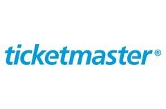 ticketmaster logo on a white background