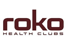 Roko health clubs logo on a white background