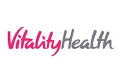 Vitality Health logo on a white background