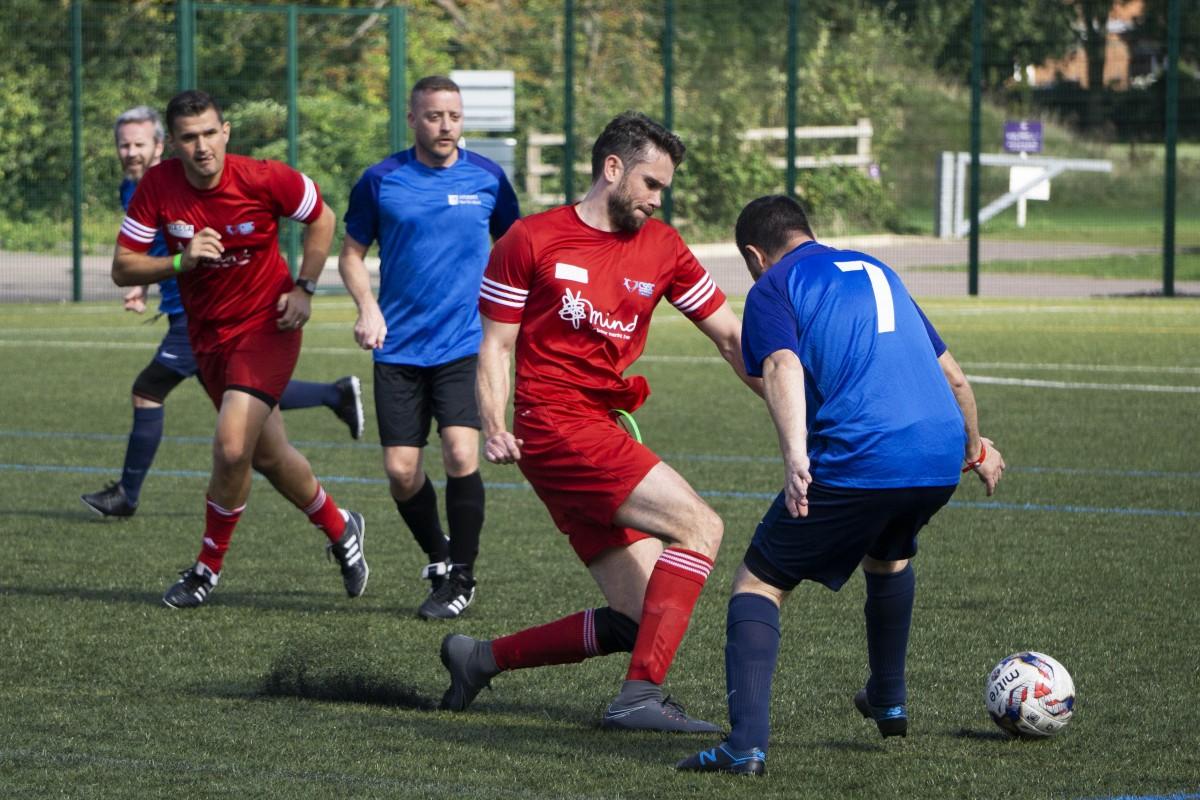 Men's football being played at the CSSC games