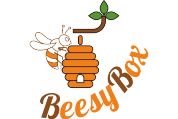 Beesybox logo with a bee standing on an orange hive