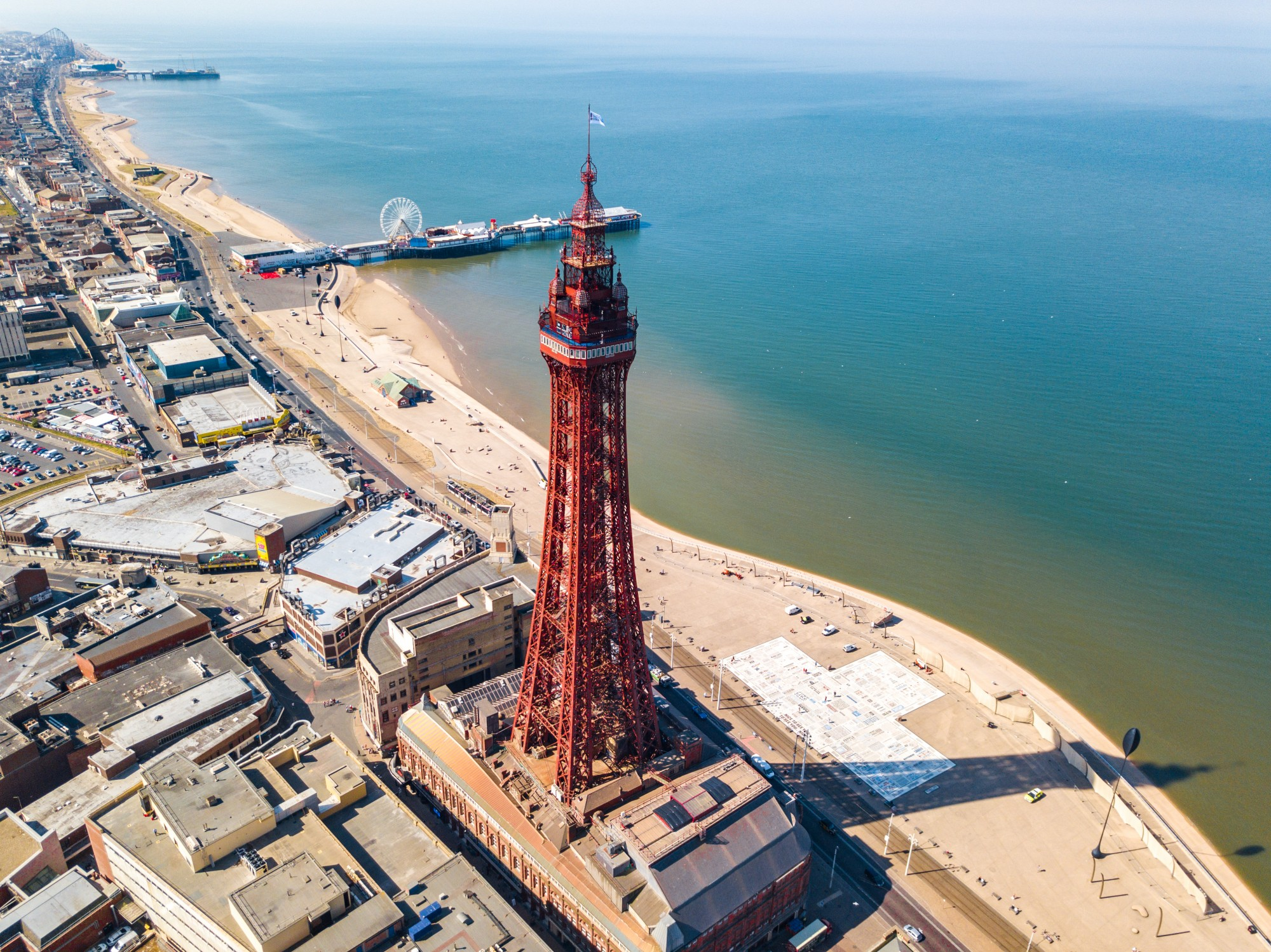 Blackpool tower from above