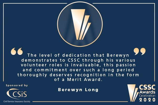 A circle containing the gold merit award icon with a quote of thanks from Berewyn underneath