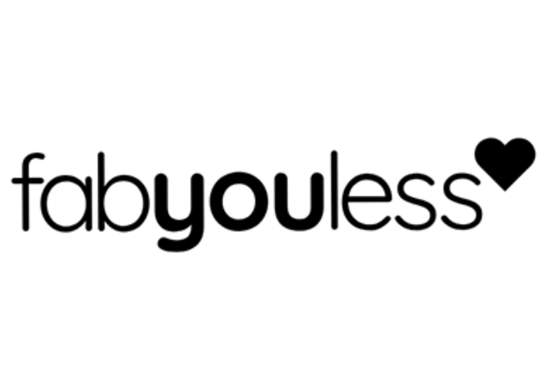 Black textual fabyouless logo on a white background