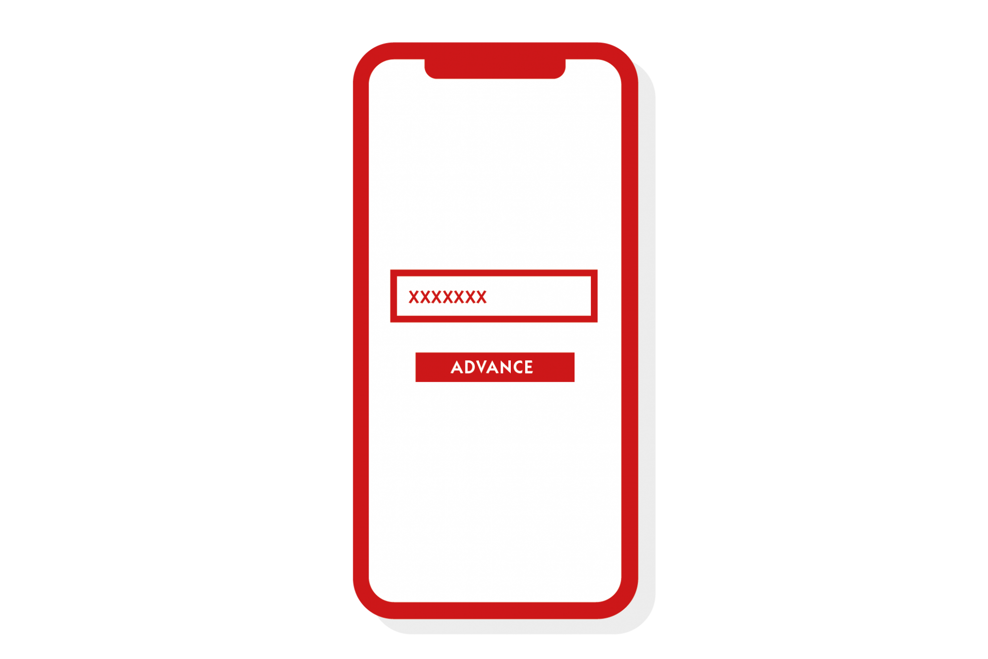 red illustrated phone icon