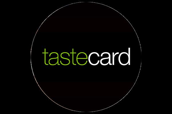 tastecard logo cropped into a circle