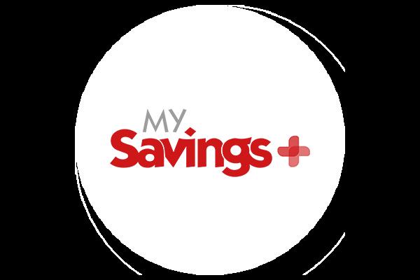 My Savings+ logo cropped into a circle