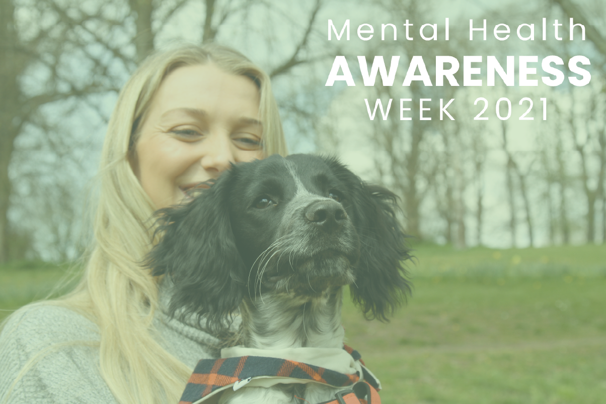 Mental Health Awareness Week Photo of a woman and a dog