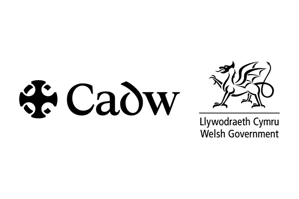Cadw logo with Welsh government logo