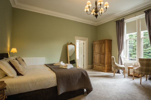 Inside a hotel room at crieff hydro