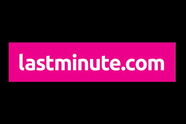 Pink lastminute.com logo