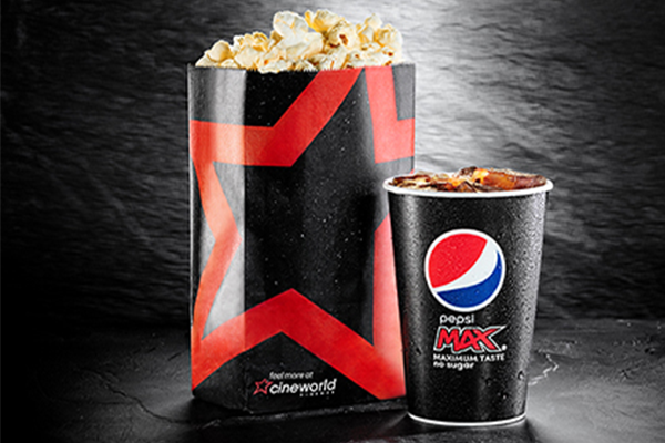 Popcorn and a drink