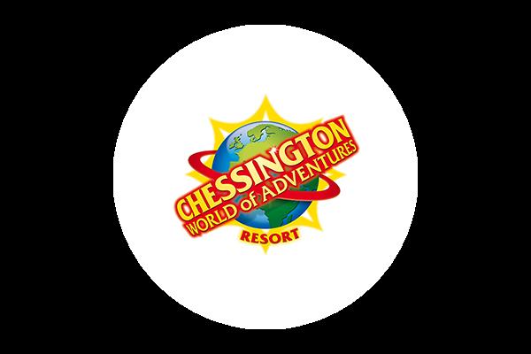 Chessington logo on a white circular background