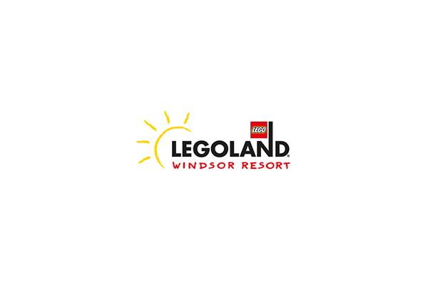 Legoland logo on a white circular background