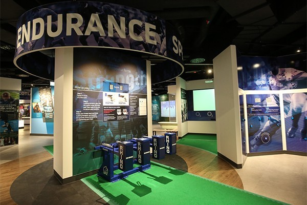 the interactive section at the world rugby museum
