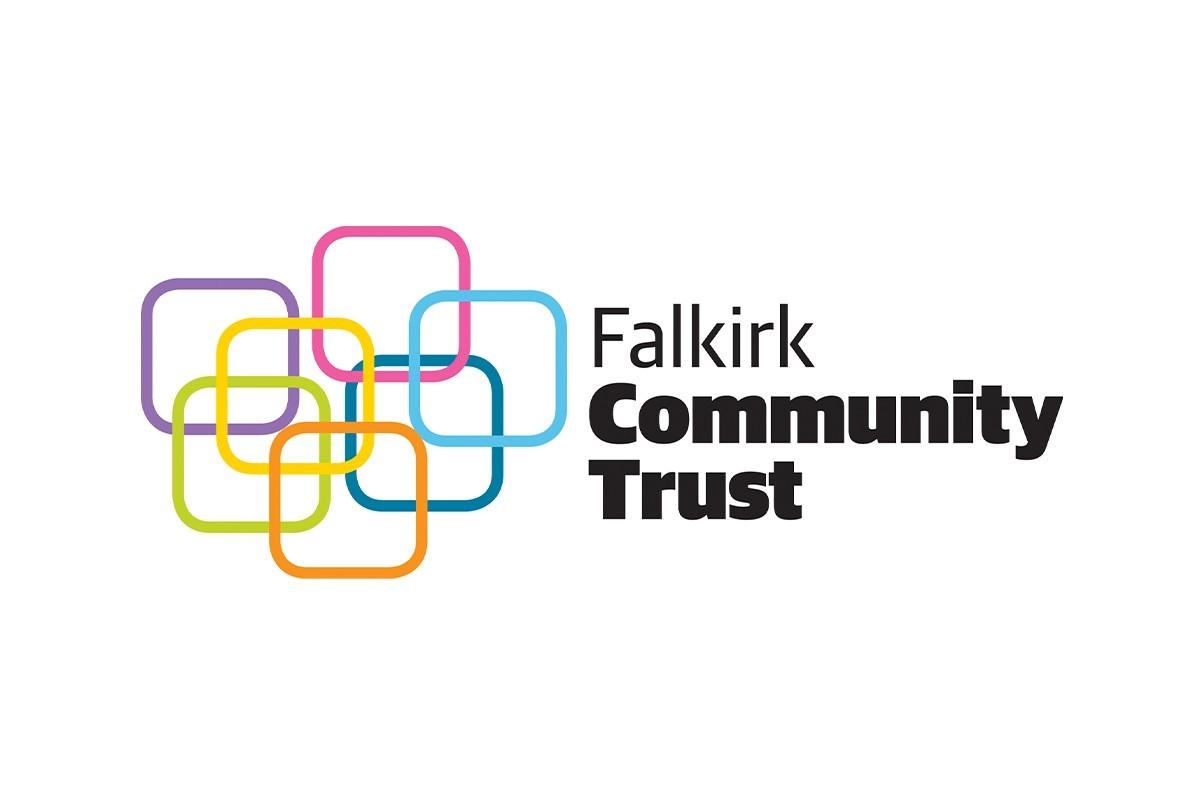Falkirk community trust logo on a white background