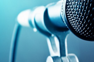 A microphone podcast