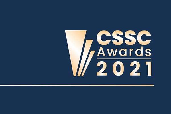 CSSC awards in gold shimmer
