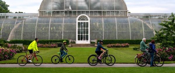 Cyclists in Kew Gardens