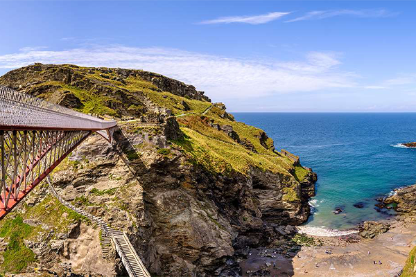An english heritage site on the coast