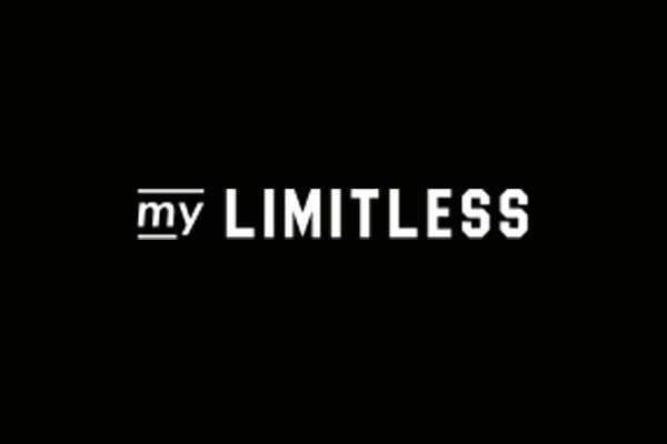 odeon my limitless written in white font on a black background