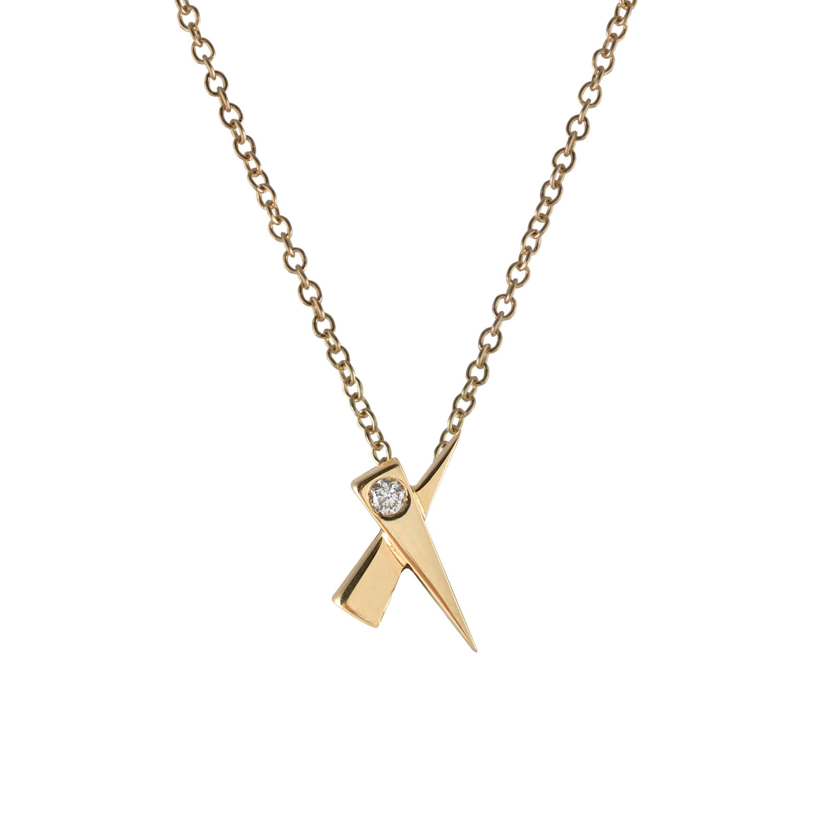 Kiss Diamond Gold Pendant by Daou Jewellery on curated-crowd.com