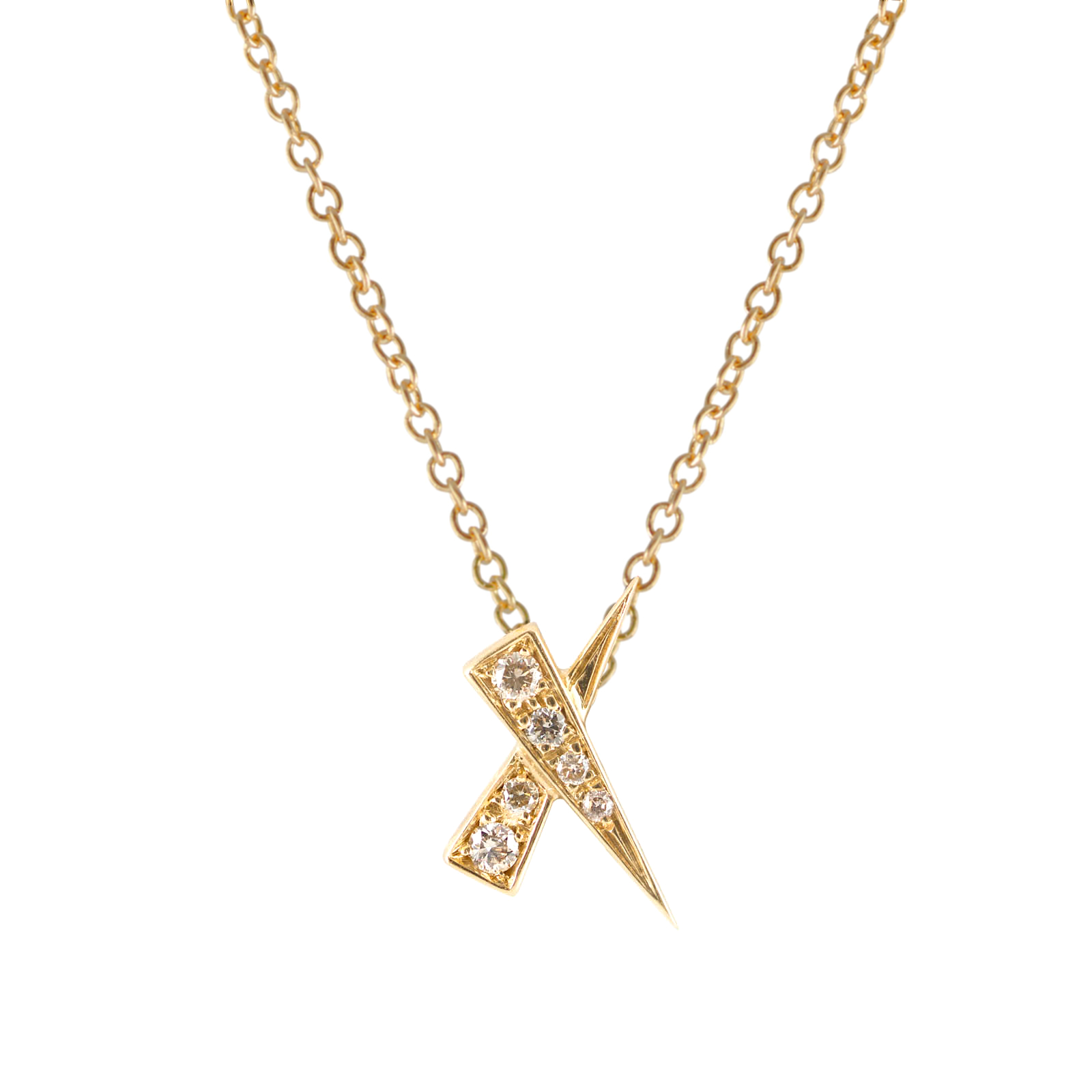 Kiss Diamond Pave Gold Pendant by Daou Jewellery on curated-crowd.com