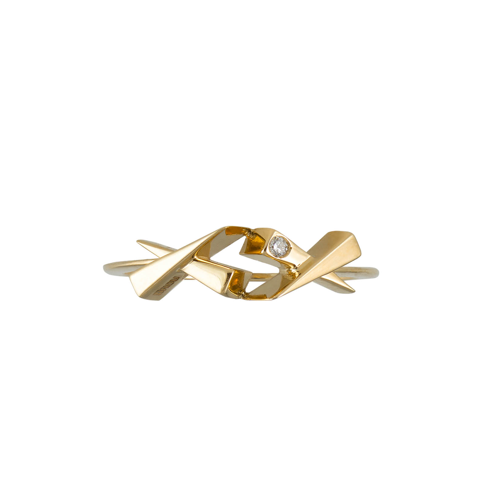 Two Kisses Diamond Gold Ring by Daou Jewellery on curated-crowd.com
