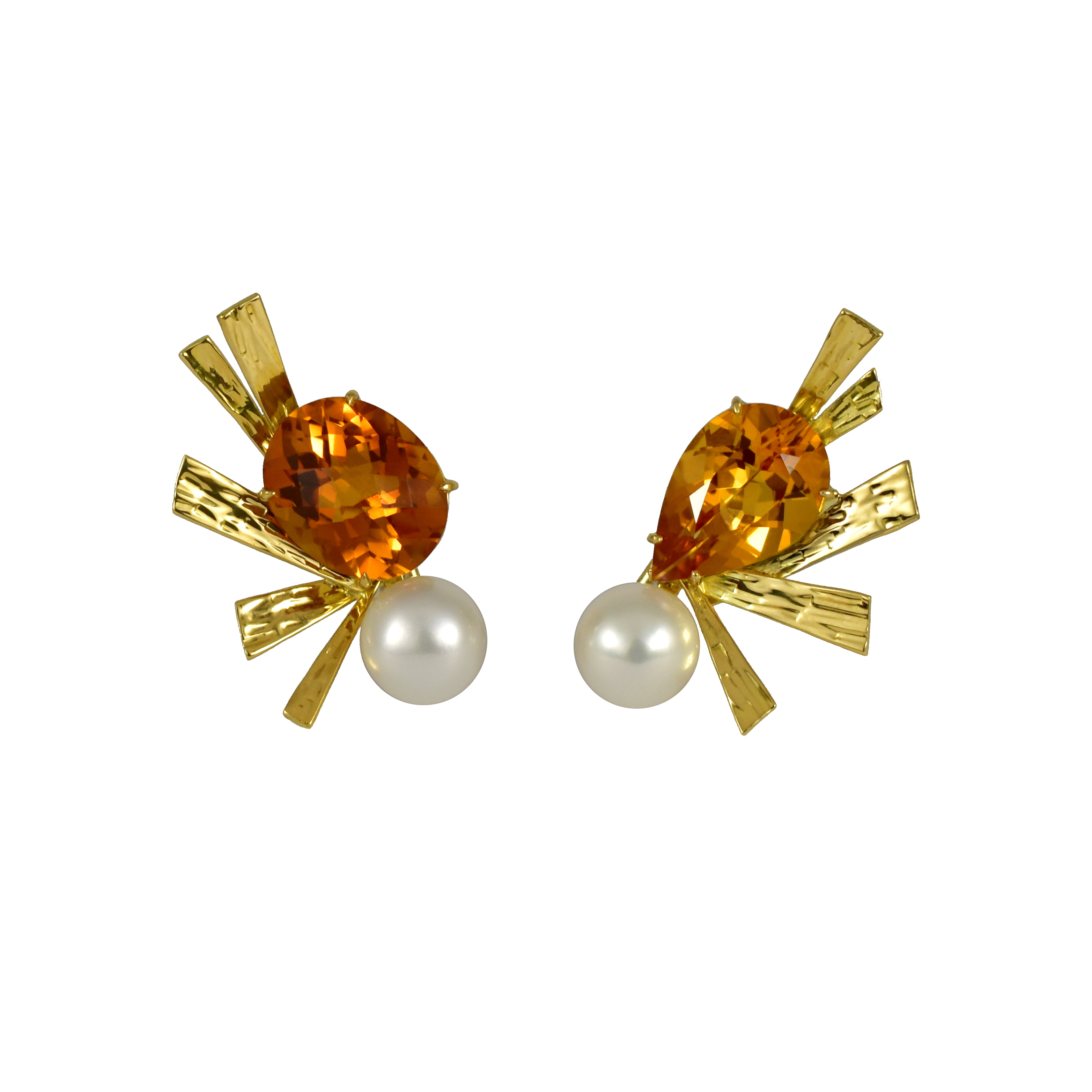 Exclusive - Sparks Asymmetric Gemstone Earrings by Daou Jewellery on curated-crowd.com