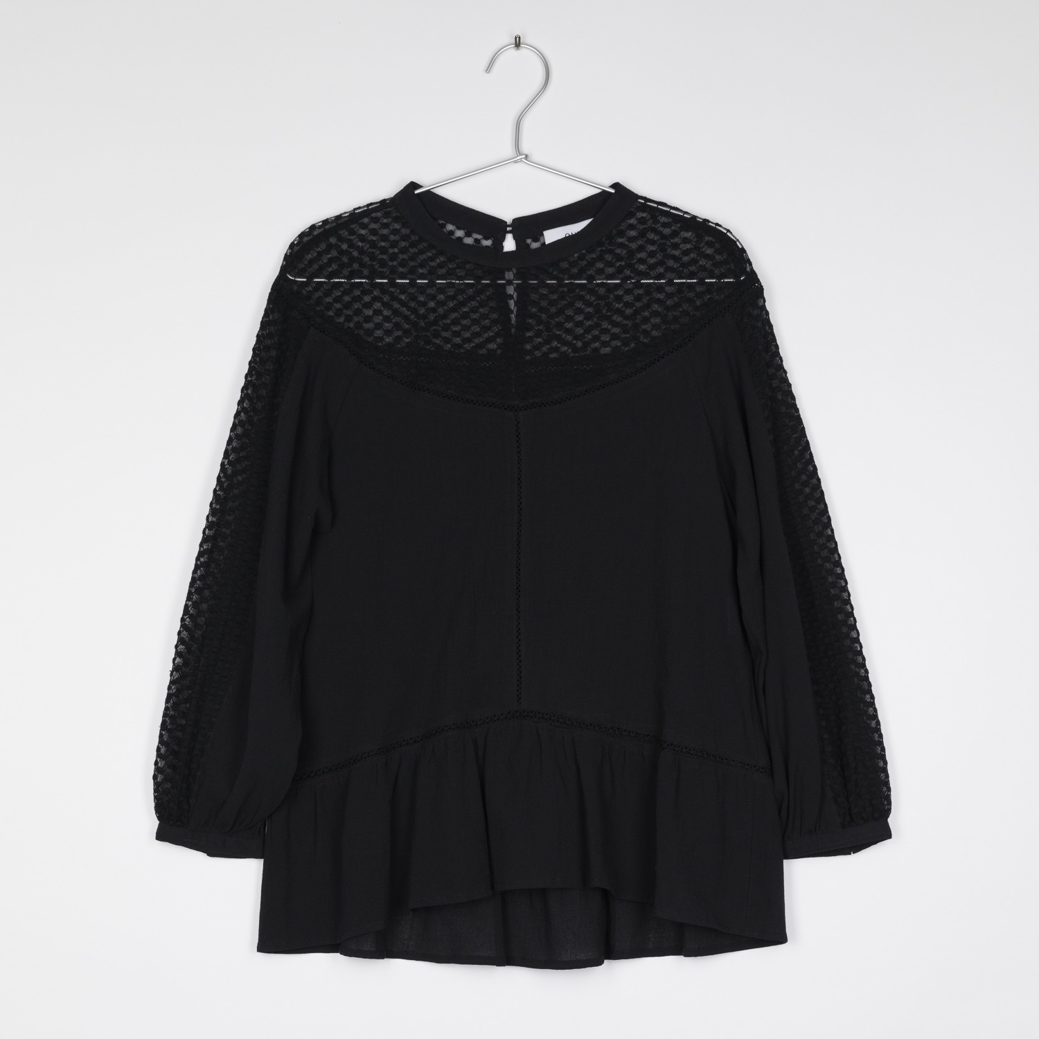EMILY Cotton and Linen Lace Blouse by Quin on curated-crowd.com