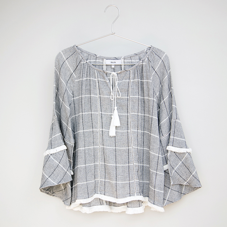 HANNAH Cotton Boho Blouse by Quin on curated-crowd.com