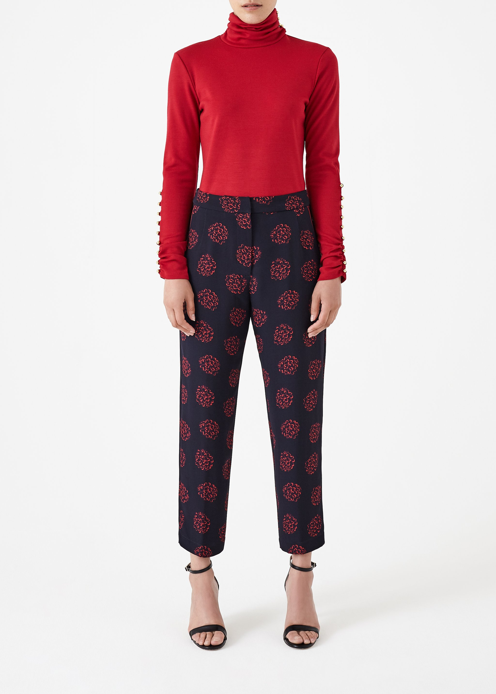 Red Clover Top by Bozena Jankowska on curated-crowd.com