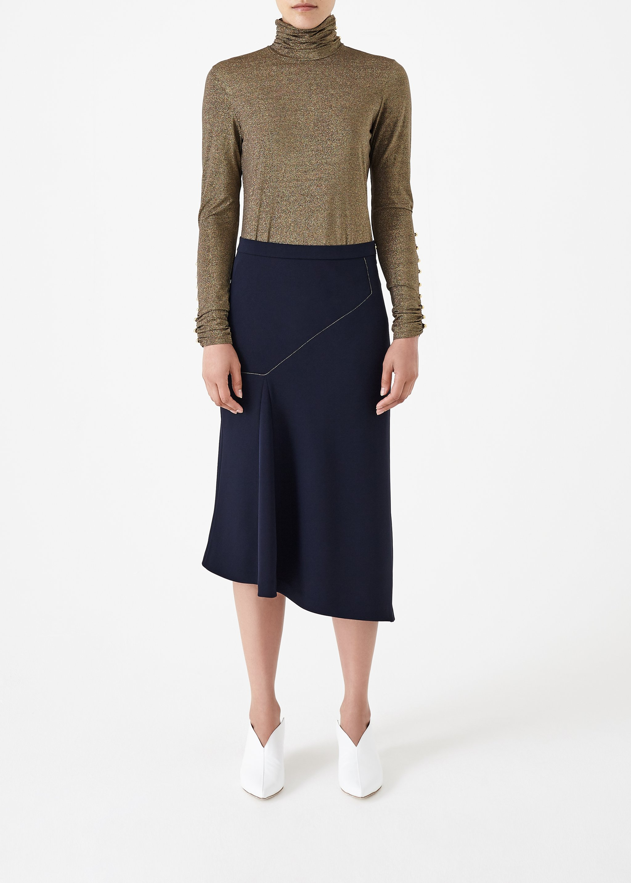 Gold Clover Top by Bozena Jankowska on curated-crowd.com