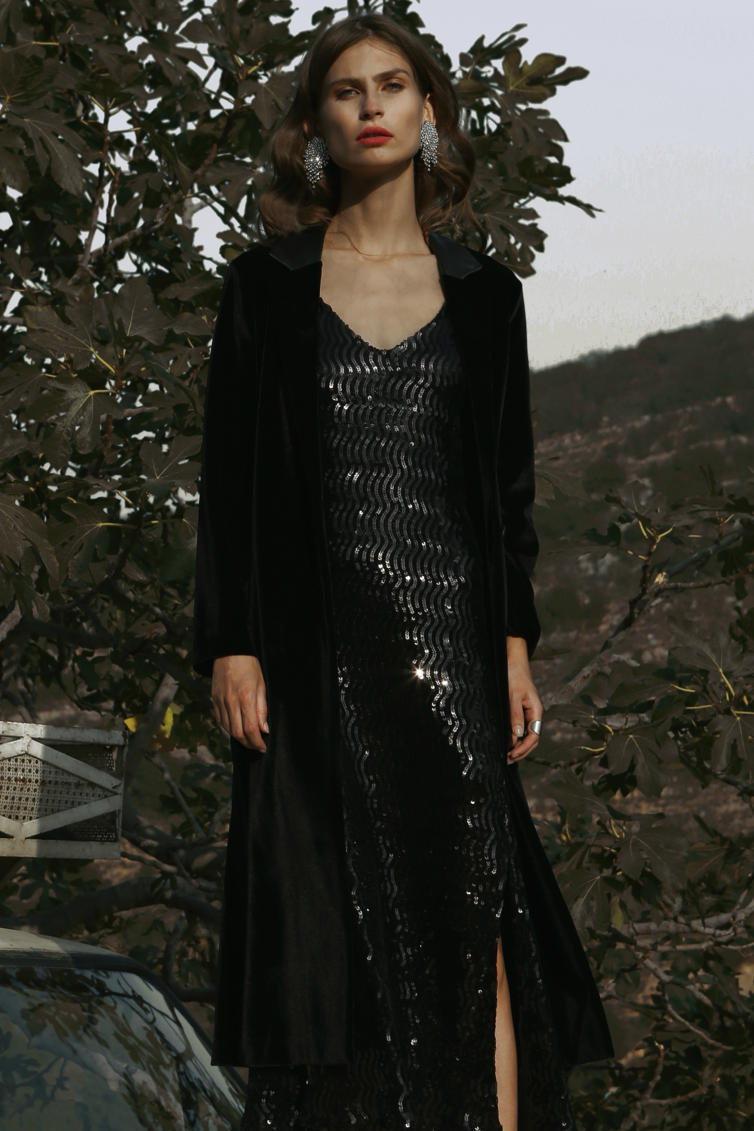 Sequin Slip Dress by  on curated-crowd.com