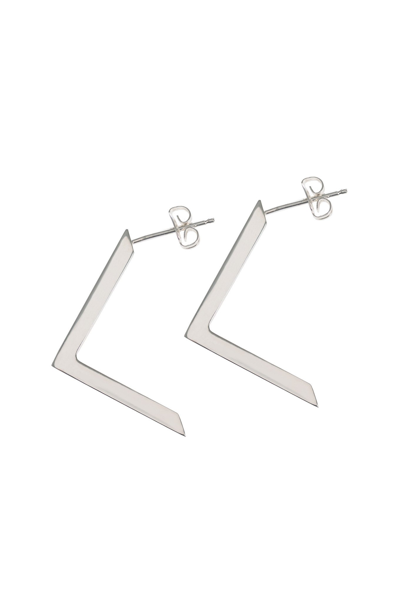 Boomerang, Silver Earrings by Sally Lane Jewellery on curated-crowd.com