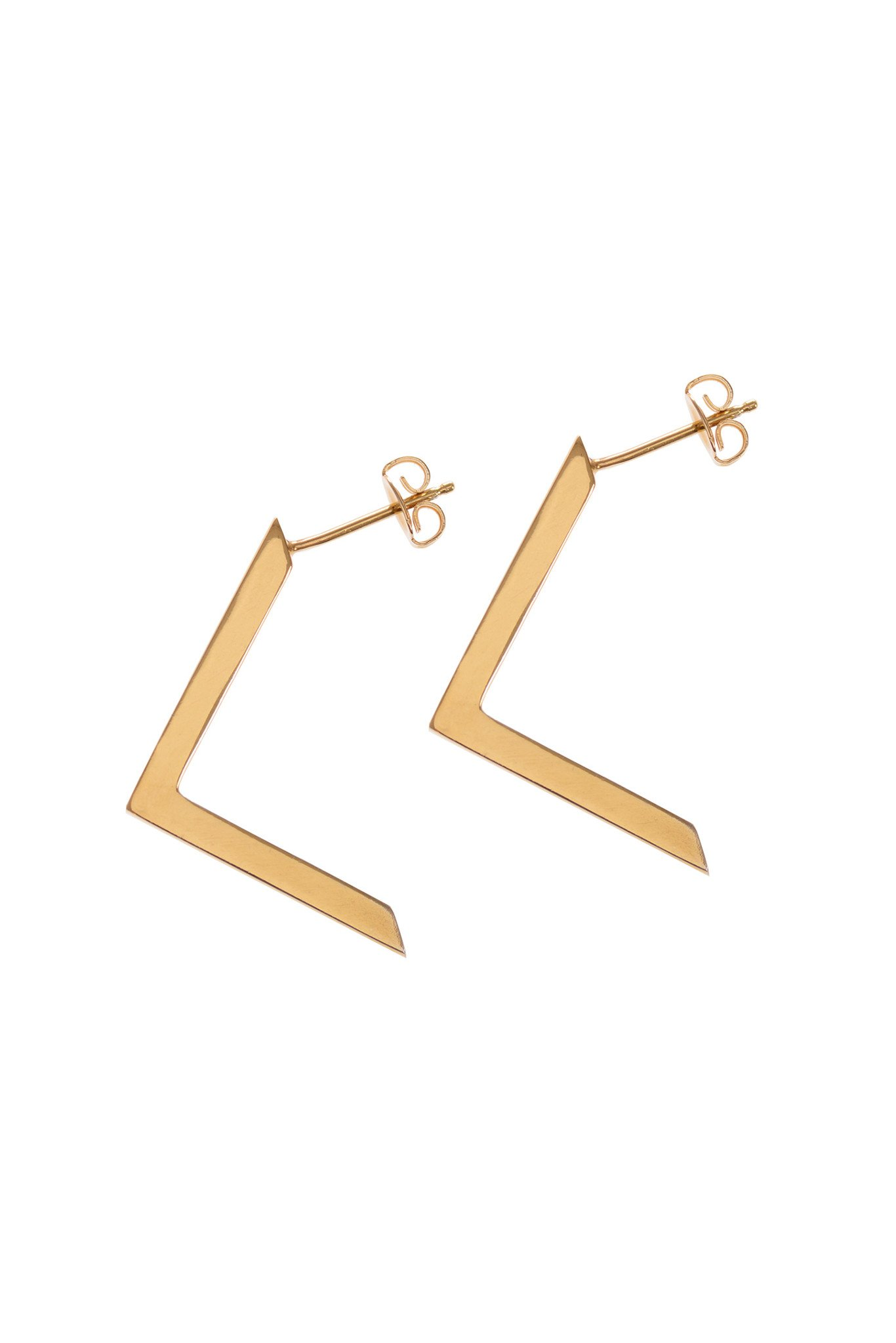 Boomerang, Gold Earrings by Sally Lane Jewellery on curated-crowd.com