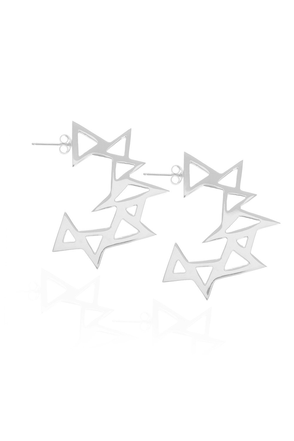 Throwing Star, Silver Earrings by Sally Lane Jewellery on curated-crowd.com