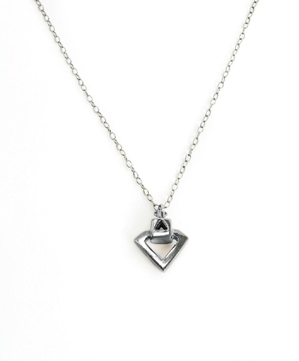 Diamond Eyes, Silver Pendant by Sally Lane Jewellery on curated-crowd.com