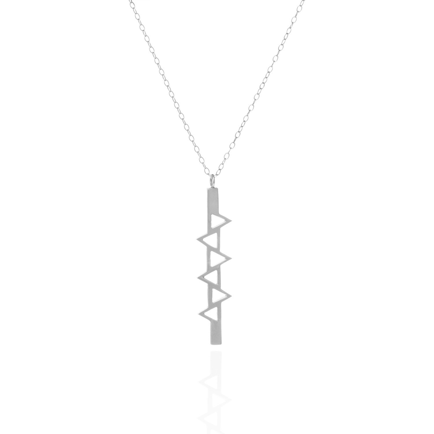 Ladder of Life, Long Silver Pendant by Sally Lane Jewellery on curated-crowd.com