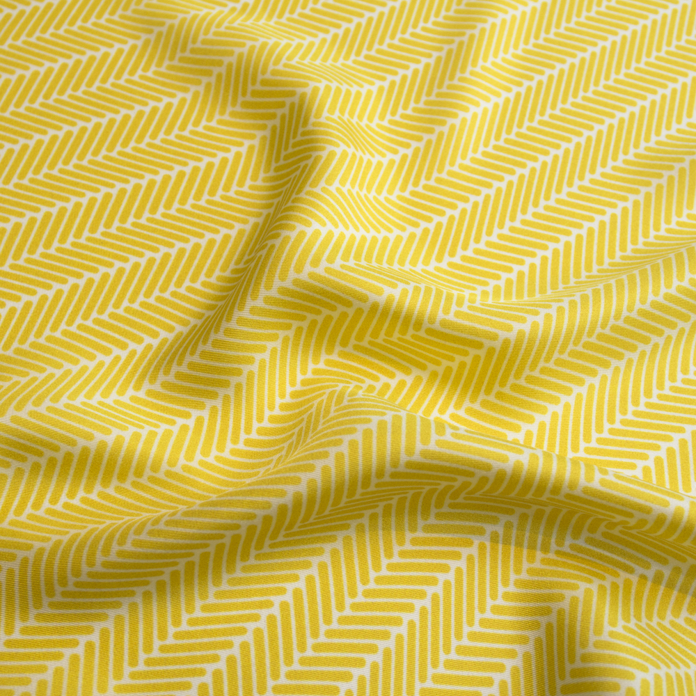 Herringbone Lapis Silk Scarf, Canary Yellow by Nonamu on curated-crowd.com