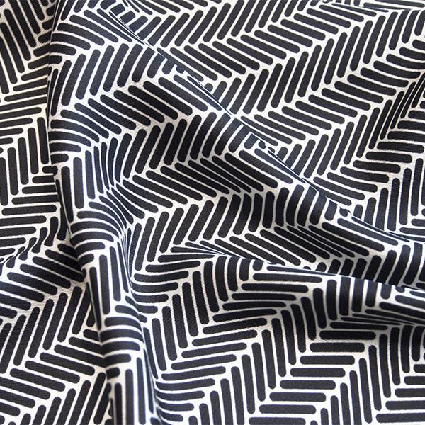 Herringbone Lapis Silk Scarf, Black by Nonamu on curated-crowd.com