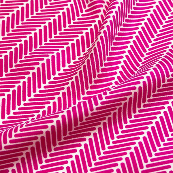 Herringbone Lapis Silk Scarf, Fuchsia by Nonamu on curated-crowd.com