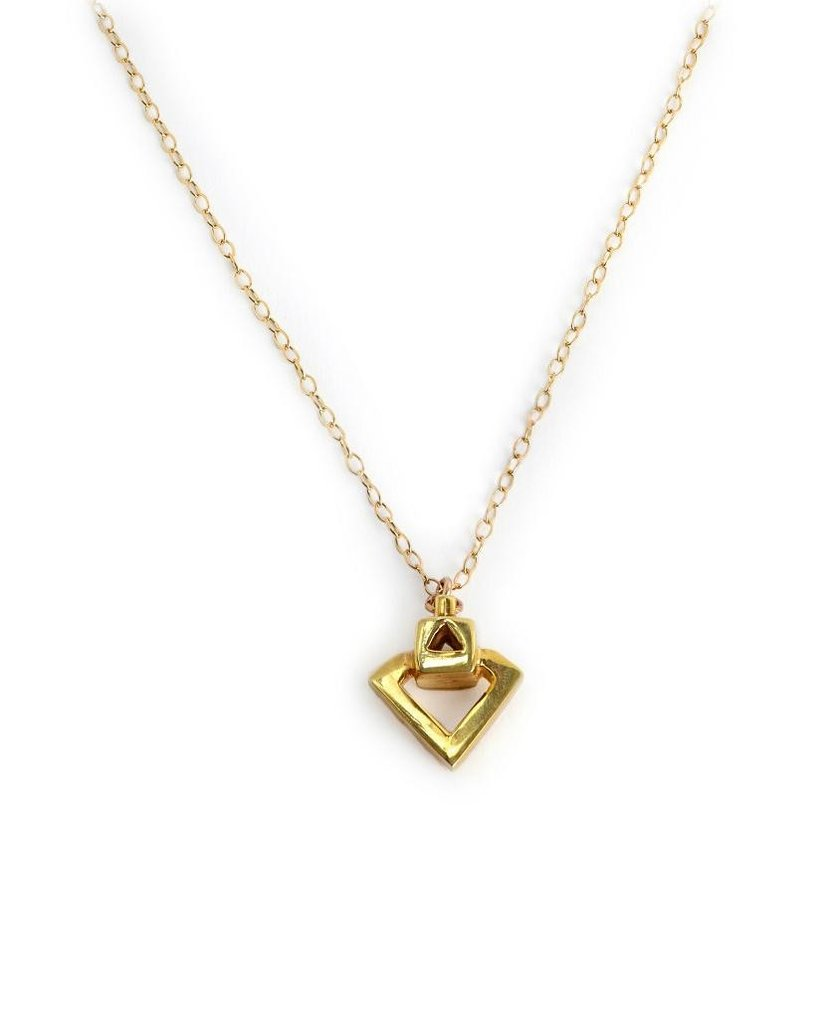 Diamond Eyes, Gold Pendant by Sally Lane Jewellery on curated-crowd.com
