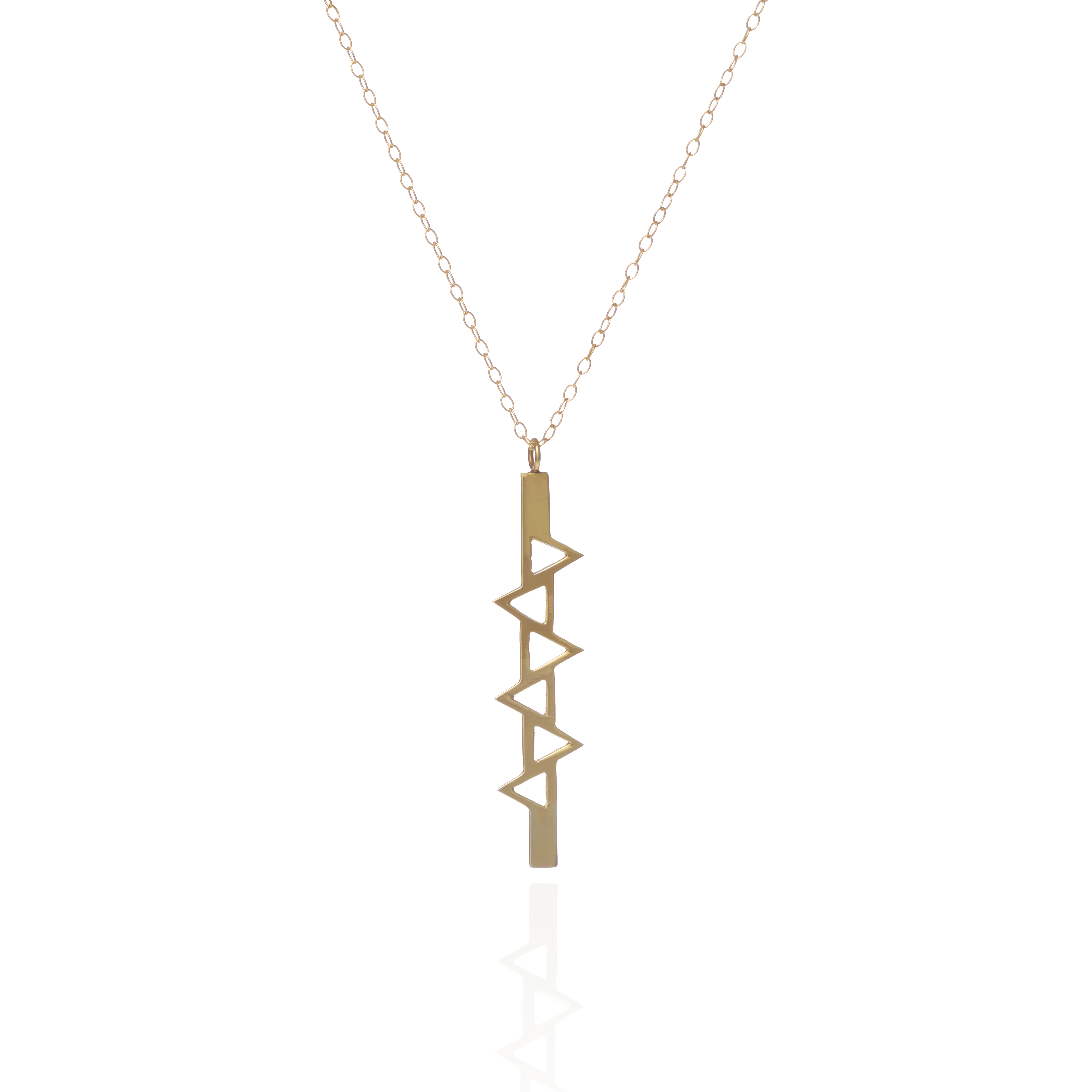 Ladder of Life, Long Gold Pendant by Sally Lane Jewellery on curated-crowd.com