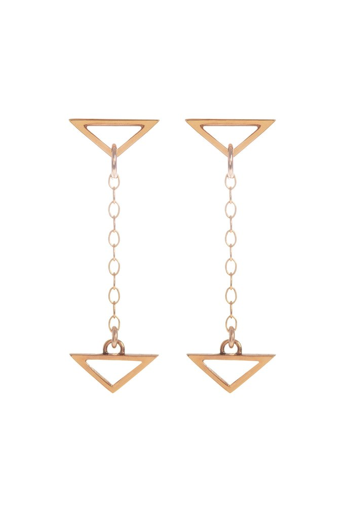 Hang Loose, Gold Drop Earrings by Sally Lane Jewellery on curated-crowd.com