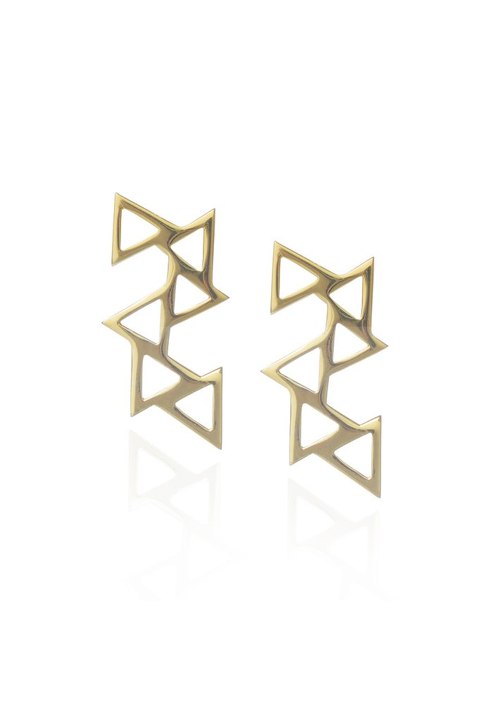 Ladder of Life, Gold Earrings by Sally Lane Jewellery on curated-crowd.com