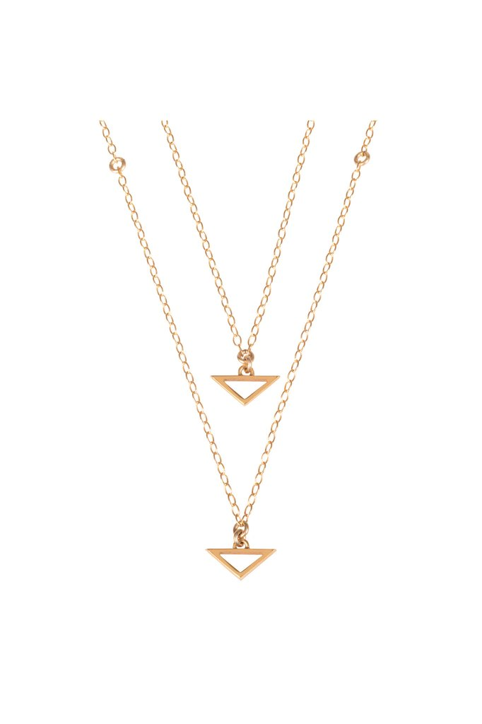 Double Trouble, Gold Necklace by Sally Lane Jewellery on curated-crowd.com