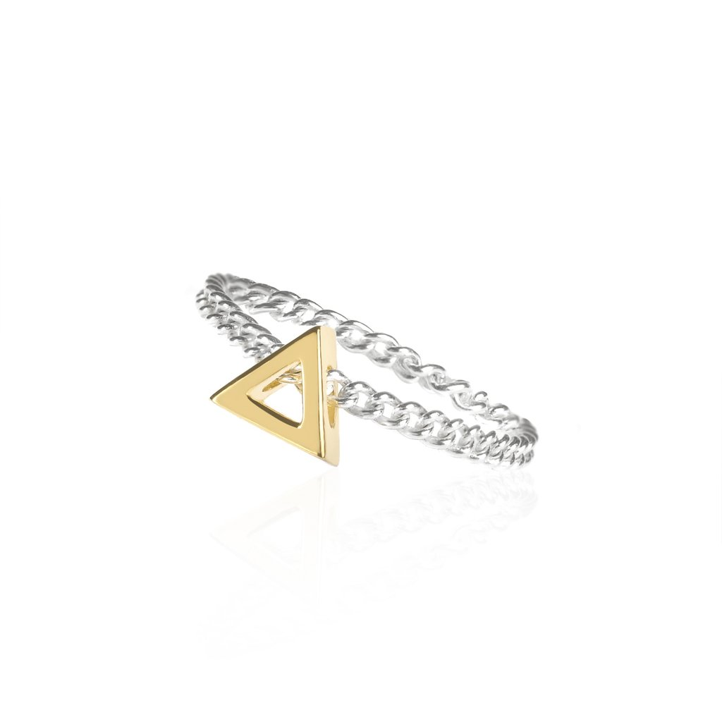 Journey Chain Ring by Sally Lane Jewellery on curated-crowd.com