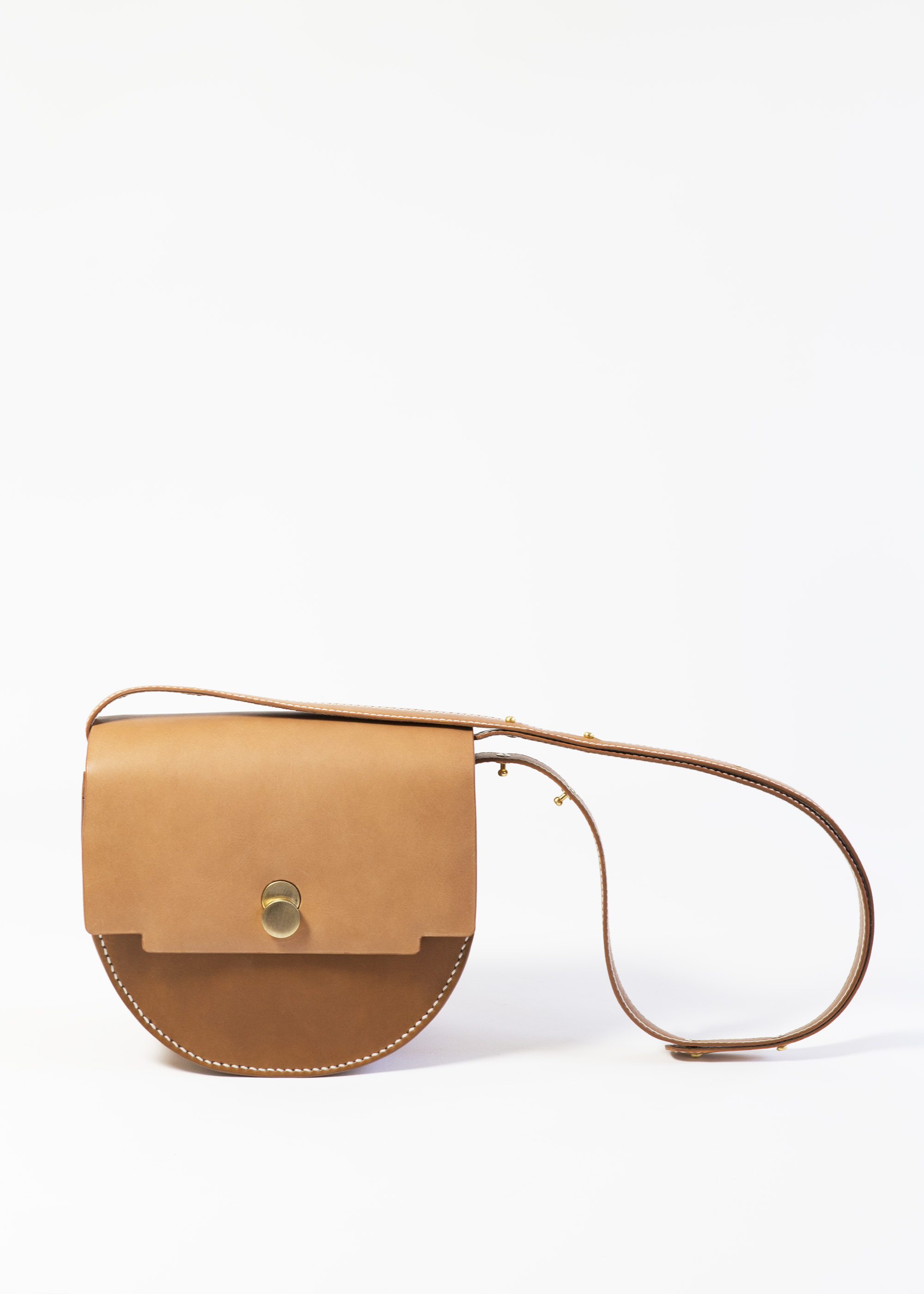 Mita Saddle bag Tan by LAHARA on curated-crowd.com