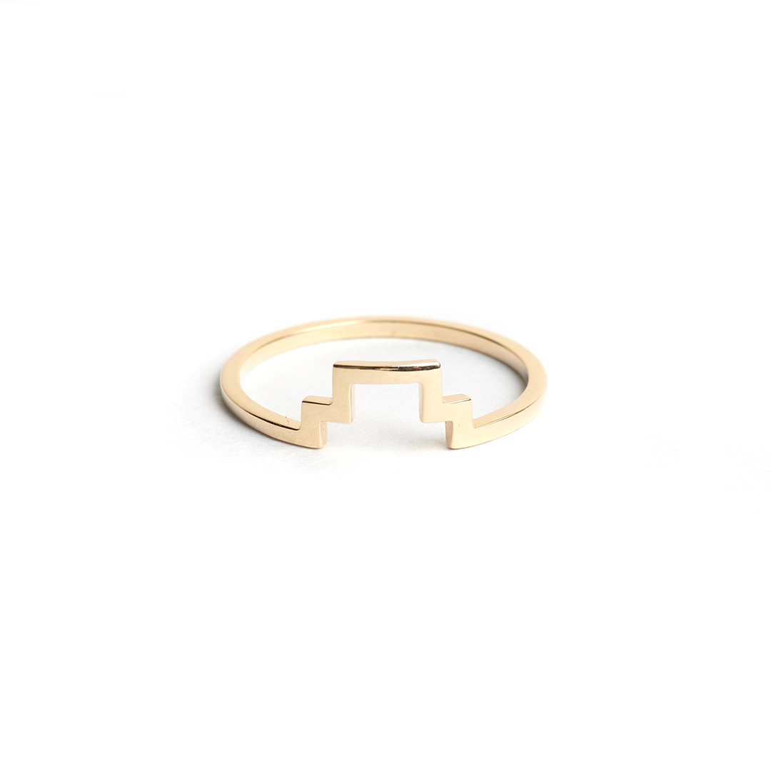 Line Ring, 14k Gold by The Straits Finery on curated-crowd.com